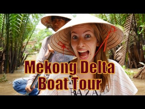 Paddling down the Mekong Delta River