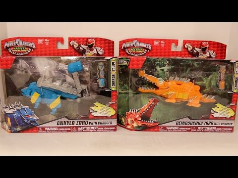 Ankylo Zord & Deinosuchus Zord Review [Power Rangers Dino Super Charge]