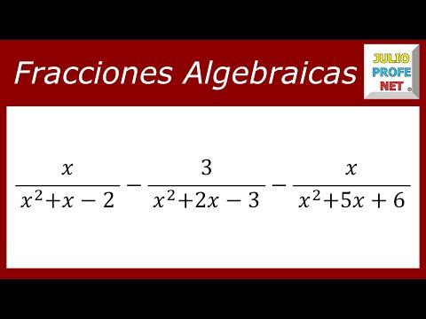 Restas de fracciones algebraicas heterogéneas