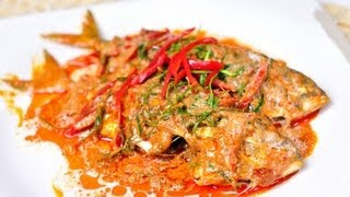 [Thai Food] King Of Curry Cooked With Fried Mackerel (Shu Shee Pla Tu)