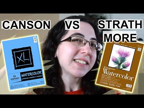 CANSON VS STRATHMORE - Best Cheap Watercolor Paper?