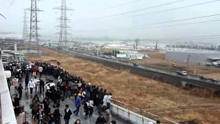 Co za masakra! Tsunami w Japonii kręcone z dachu centrum handlowego!