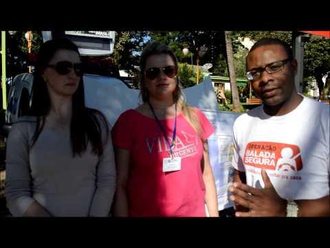 Entrevista: blitz de conscientização no trânsito em Ijuí