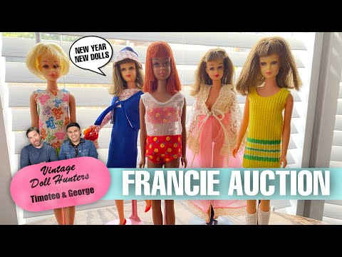 VINTAGE FRANCIE AUCTION DOLL HAUL MATTEL