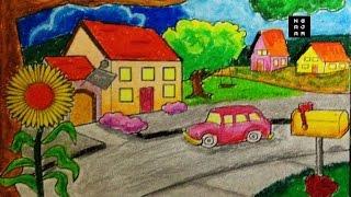 Download Video Cara Mewarnai sekolah dan rumah dengan crayon bagus (TK SD) MP3 3GP MP4