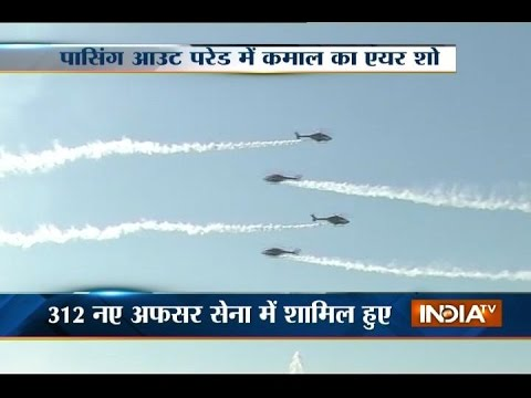 Glimpse of passing out parade from Military Academy in Pune