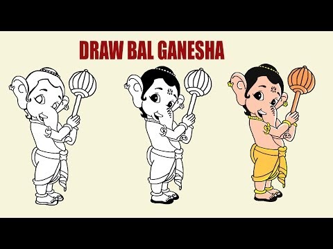 (Draw Bal Ganesha for Kids. - Duration: 2 minutes, 23 seconds.)