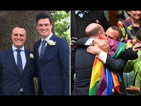 Liberal MP Tim Wilson marries partner after gay marriage legalised (видео)