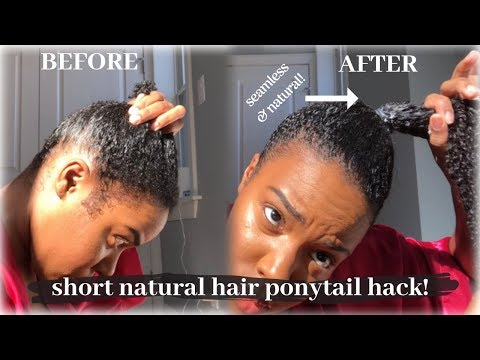 Short hair styles - Easy HIGH PONYTAIL on Short Natural Hair Tutorial  Nia Hope