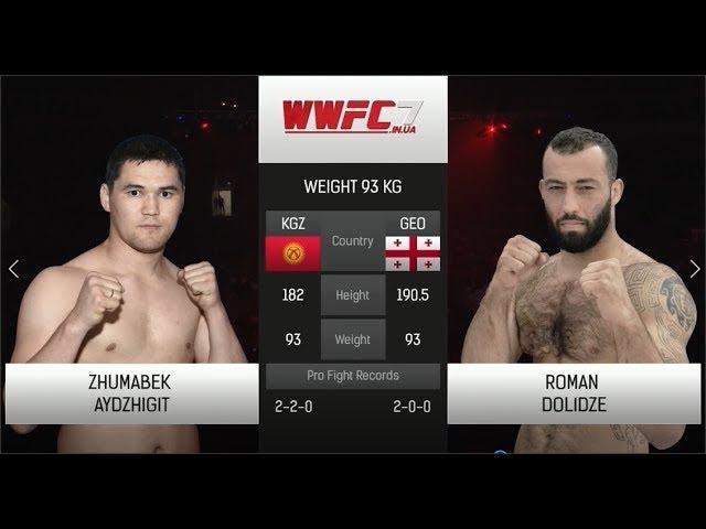 WWFC7 Zhumabek Aydzhigit vs Roman Golidze Weight 93