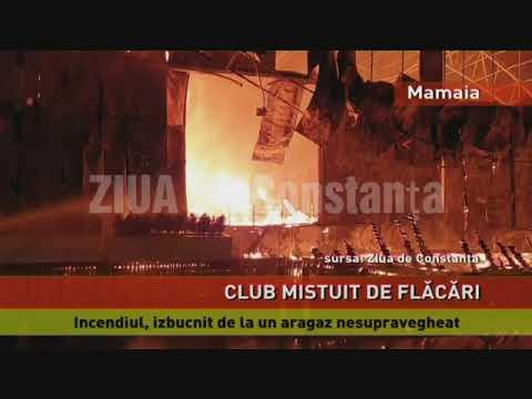 Un club cunoscut din Mamaia, mistuit de flăcări
