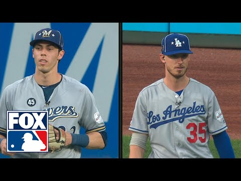 Video: Christian Yelich and Cody Bellinger get mic'd up in the outfield for the 2nd inning | FOX MLB