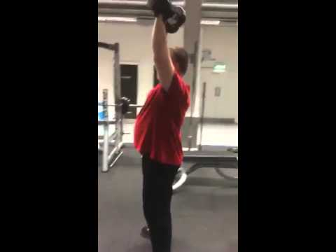 Squats and shoulder press with Richard
