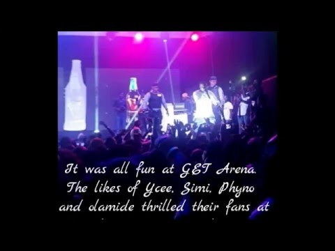 Fans Throw Water/Drinks At Olamide While Performing On Stage