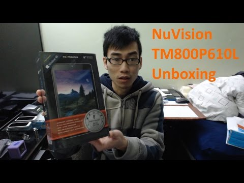 NuVision TM800P610L Signature Edition Tablet Unboxing