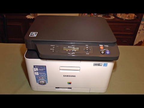 Samsung C480 Color Laser Printer Setup and Demo