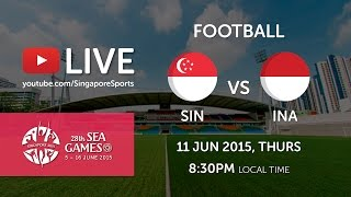 Video Football Singapore vs Indonesia (Jalan Besar Stadium Day 5) | 28th SEA Games Singapore 2015 MP3, 3GP, MP4, WEBM, AVI, FLV Mei 2019