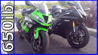 8. 2017 R6 vs 2016 ZX-6R | SAVAGE SMACKDOWNS!!!