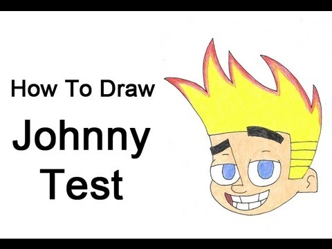 how to draw johnny test