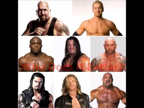Spear: Big Show, Christian, Bobby Lashley, Rhyno, Batista, Roman Regins, Edge, Goldberg