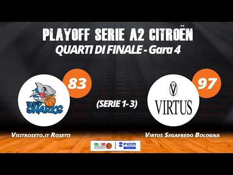 A2 Playoff – Quarti Gara4, gli highlights di Roseto-Virtus