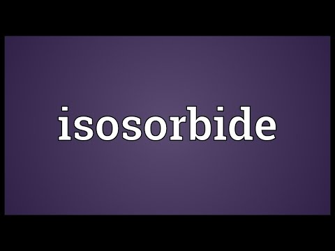 Isosorbide Meaning