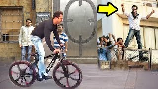 Video Salman Khan Cycling In Front Of Shahrukh Khan's House Mannat In Mumbai MP3, 3GP, MP4, WEBM, AVI, FLV Mei 2019
