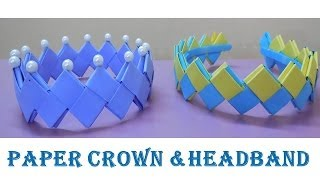 DIY - How to make Crown and Headband from paper - YouTube