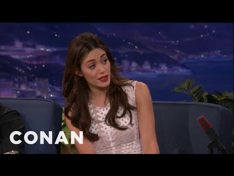 Conan - Emmy Rossum Sings Opera For A Hot Dog