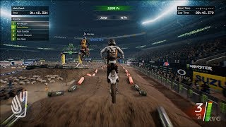 Monster Energy Supercross - E. Rutherford (Metlife Stadium) - Gameplay (PC HD) [1080p60FPS]