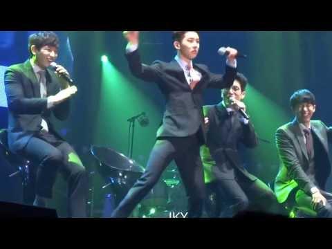 131208 2AM dancing & singing to EXO's Growl