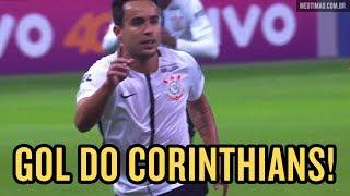 O meia Jadson abriu o placar para o Corinthians contra o Palmeiras, no Allianz Parque