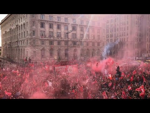 Epic Scenes As 750,000 Liverpool Fans Watch Victory Parade Make Its Way Through City Centre