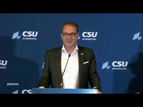 Pressekonferenz zum Abschluss der CSU-Klausurtagung i ...