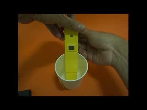 สาธิตวิธีการใช้งานเครื่องวัดกรด ด่าง pH