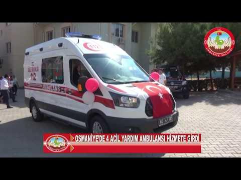 Osmaniye'de sağlığa 4 ambulans takviyesi