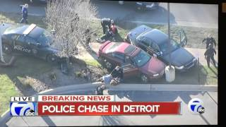 Lincoln Park (MI) United States  City pictures : Police chase on Detroit Michigan