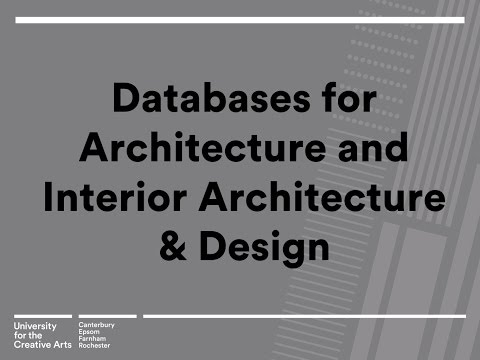 Introduction to databases for Architecture and Interior Architecture & Design