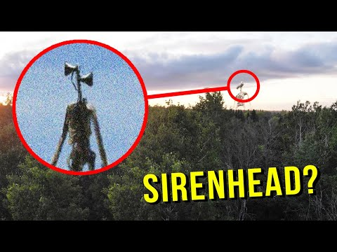 DRONE CATCHES SIREN HEAD AT HAUNTED SCREAMING FOREST!! (HE'S ACTUALLY REAL)