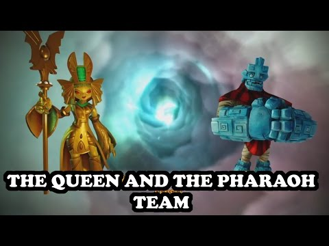 Skylanders Imaginators - Golden Queen & Grave Clobber GAMEPLAY - THE QUEEN AND THE PHARAOH TEAM