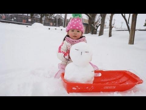 雪遊びRino&Yuuma