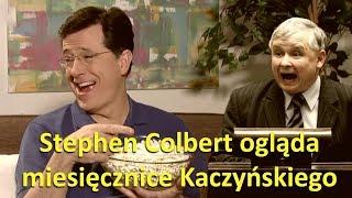 Amerykański komik Stephen Colbert reaguje na 8 lat miesięcznic smoleńskich