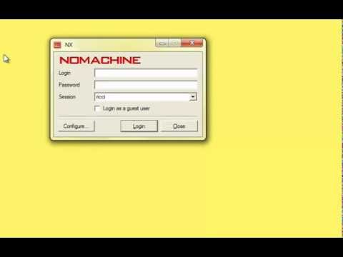 nxclient login to server