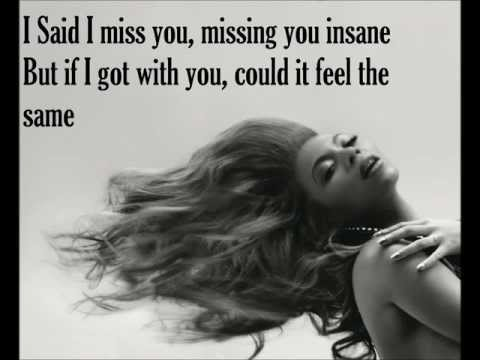 I miss you-Beyonce lyrics (видео)