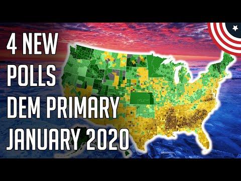 4 New 2020 Democratic Primary Polls - Biden, Bernie 1 & 2 - January 2020
