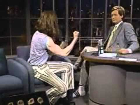 Crispin Glover And David Letterman