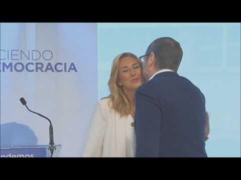 Beltrán, con Maroto, en un acto en Pamplona: