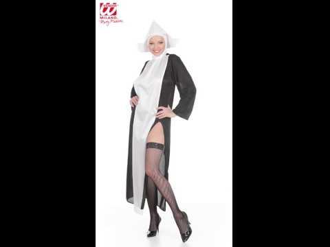 Déguisement de nonne avec robe et chapeau