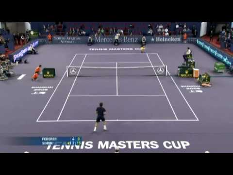 Federer vs Simon Masters Cup 2008