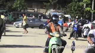 Bangkok Motorcycle Taxi In Orange Shirt Thon Buri Thailand